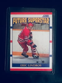 Future Superstar Eric Lindros trading card , T4E 1W5