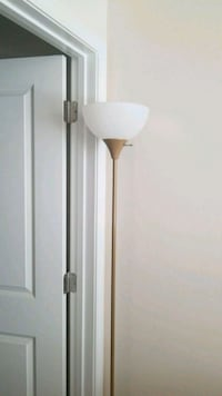 white and brown torchiere lamp Conway, 29526