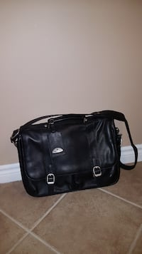 Black Leather - Multi Pocket Briefcase WOODBRIDGE