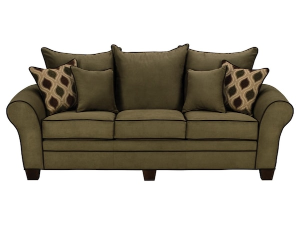 Beautiful Olive Sofa in Excellent Condition 19edb547-48a2-436d-b860-a22e8c802d32