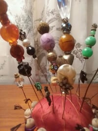 Hat pins stick pins handmade vintage beads  Cocoa, 32926