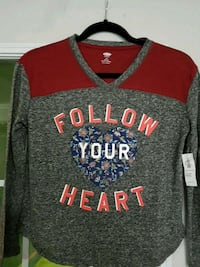 GIRLS  LONG SLEEVE TOP BNWT . Brampton, L6S 1Z6