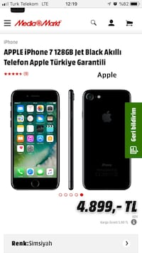 İphone 7 128 gb jet black
