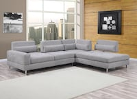 gray fabric sectional sofa with throw pillows Houston, 77075