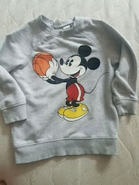 grauer Mickey Mouse Print Pullover Oberhausen, 46049