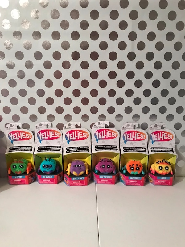 Yellies- spider hot Christmas toy 2018- set of 6