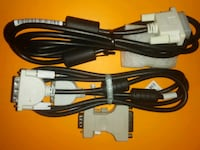 DVI-D Single Link Monitor Cables with Adapter