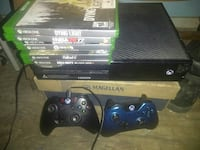 black Xbox One console with controller and game ca Mission, 78573