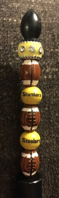 Handcrafted One-of-a-kind Steelers Pen