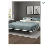 Queen size bed with brand new mattress and side table West Vancouver, V7S 3J7