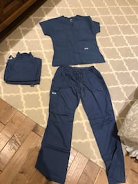 Postman blue scrub top and 3 pairs of pants  Toronto, M4P 1Y5