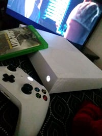 white Xbox One console with controller and game ca Los Angeles, 90003
