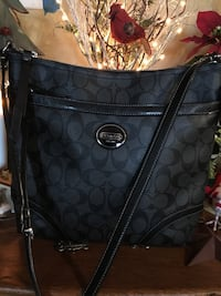 Black and Grey Coach  monogram crossbody bag Winchester, 22603