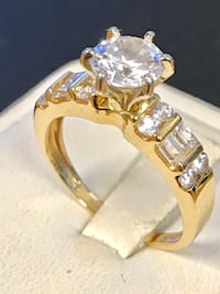 Gold CZ engagement ring Riverview, 48193