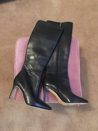 Via spiga, black leather boots, size 6 Buford