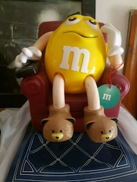 Yellow m and m