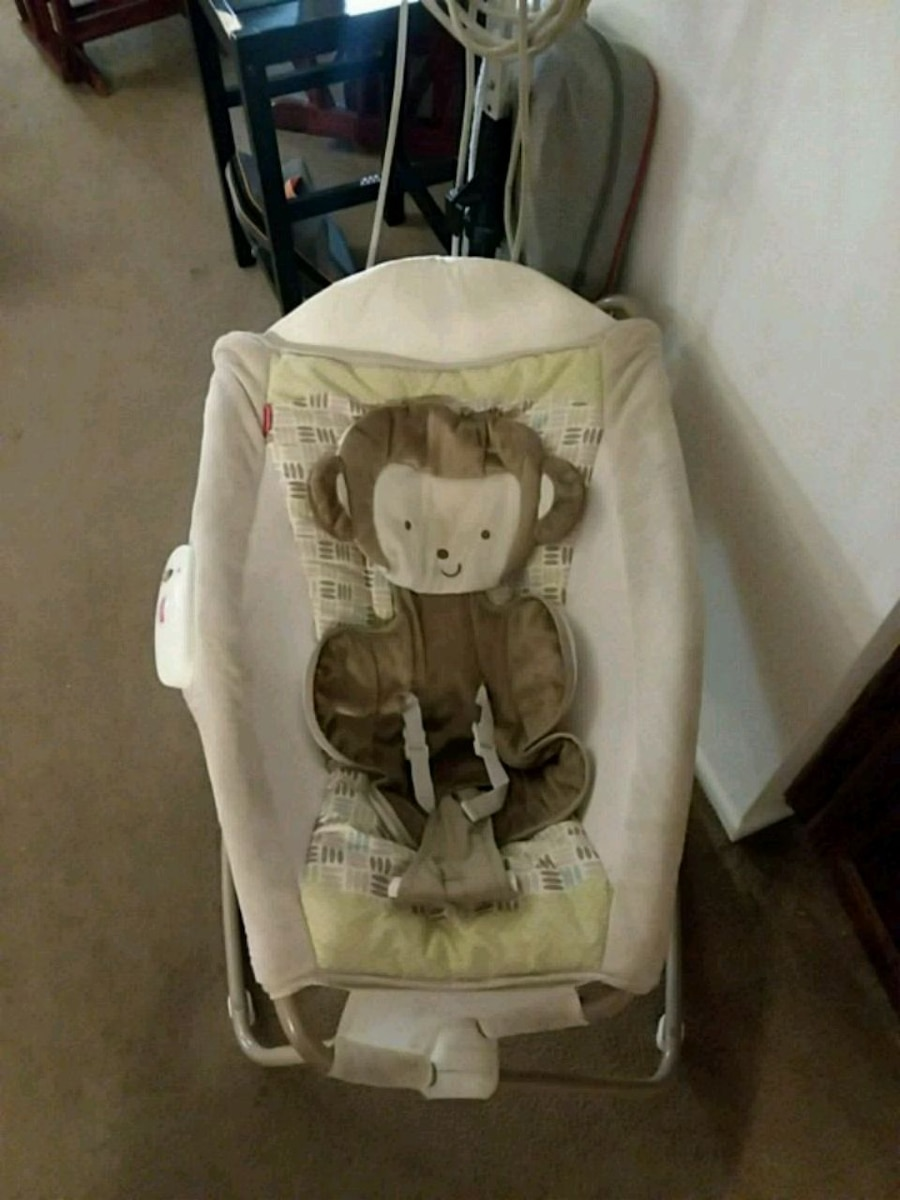 baby's white and gray bouncer for sale  Whittier