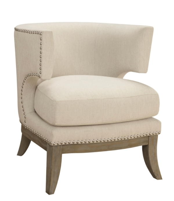 Used White Accent Chair With Nailhead Trim For Sale In Bellair Letgo