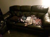 A leather couch with a pull out bed. Toronto, M4Y 1W5