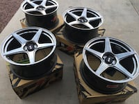 """Clean rims two small scratches. Size 18"""" lug bolt pattern 5/100 more details in pictures. Victorville, 92392"""