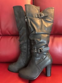 black leather knee high boots Richmond Hill, L4C 5T3