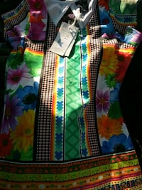 multicolor dress size small  beautiful dress for the low low brand ne