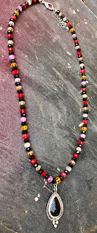 Multi-crystal  party necklace