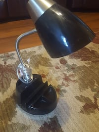 black and stainless steel study lamp Mount Airy, 21771