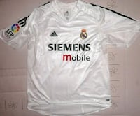 Camiseta fútbol Real Madrid Figo doble tela - capa 6116 km