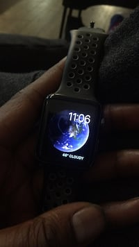 black Apple Watch with black sports band New York, 10452