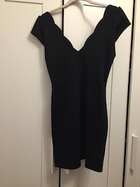 Black bodycon dress with scalloped neckline  Toronto, M5V