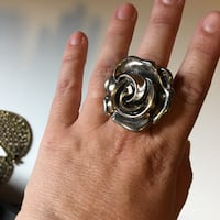 Over sized costume Jewlery ROSE ring