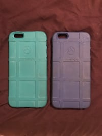 two blue and purple Magpul iPhone cases