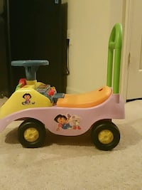 pink and yellow Dora the Explorer ride-on toy car Rose Hill, 22310