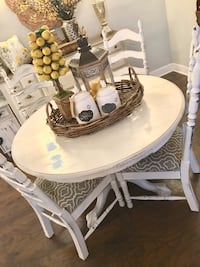 Dining Set/4Chairs/ Solid Wood/ Chalk Paint Bakersfield, 93304