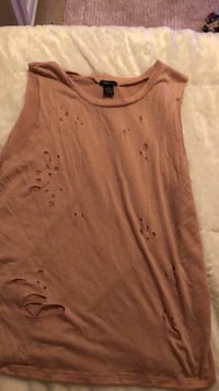 women's brown scoop neck shirt