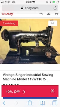 singer sewing machine double needle with puller for material 2332 mi