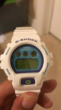White and blue Casio G-shock authentic Markham, L6E 0K2
