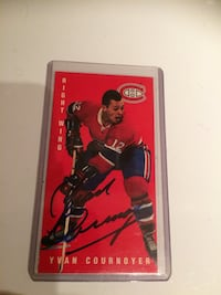 1994-95 Yvan Cournoyer Signed Card Hockey Card Autographed
