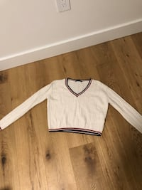 Brandy Melville white cropped sweater Vancouver, V5V 1X6