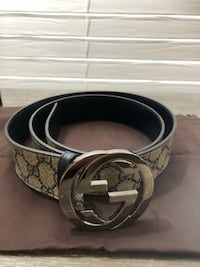 Black gucci leather belt with silver buckle Lawrenceville, 30044