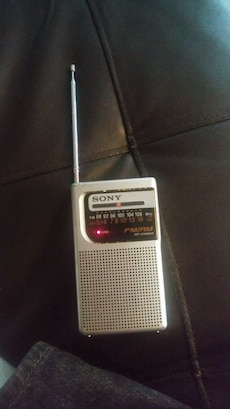 Sony FM/AM radio.