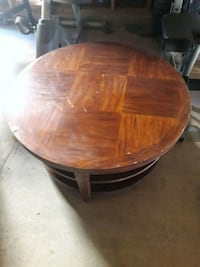 round brown wooden coffee table Heber, 92249