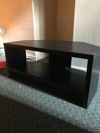 black wooden 2-layer TV stand Haverhill, 01835