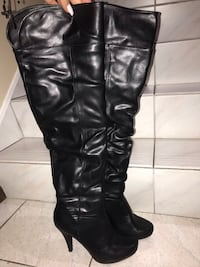 Ladies black high boots from Spring store size 7.5 Toronto, M3L 1M4