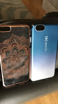 two brown mandala and blue Speck iPhone cases Gladwin, 48624