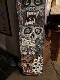 Skeleton totem painting