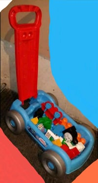 THOMAS & FRIENDS PULL CART **WITH BLOCKS!!**