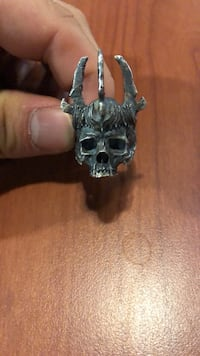 Sterling Silver Skull Ring .925 Vicenza, 36100
