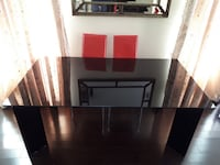 Large Modern Glass Dining Table Richmond Hill